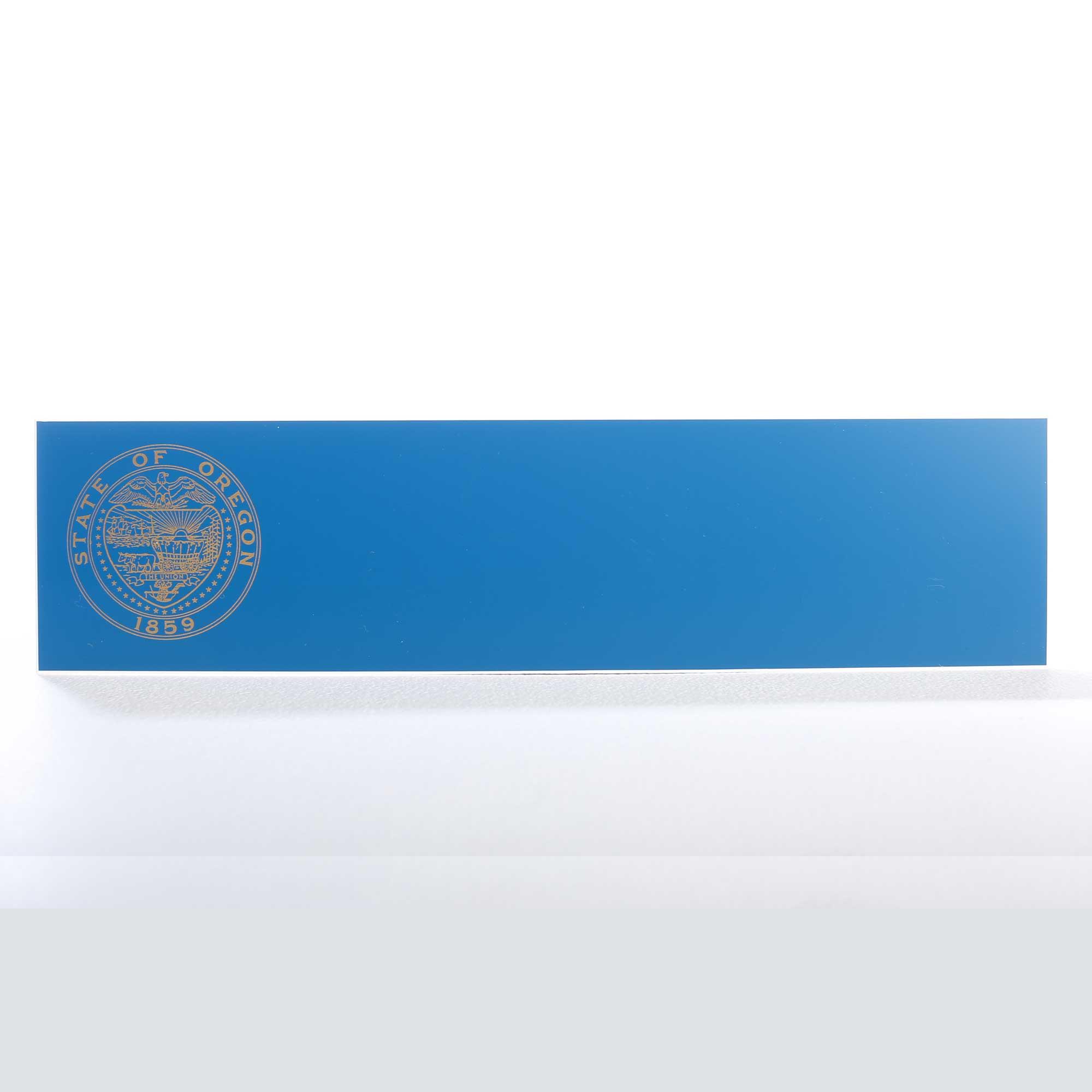 printed state logo name plate
