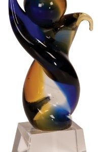 Twisted Body Art Glass Award