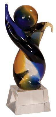 Twisted Body Art Glass Award