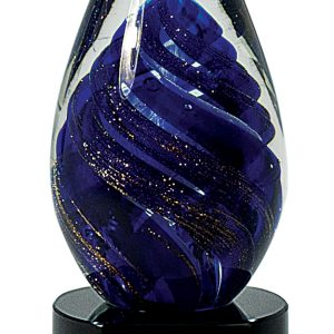 Tear Drop Art Glass Award