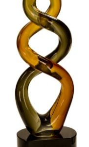 Brown Twist Art Glass Award